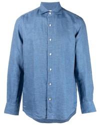 Finamore 1925 Napoli Long Sleeve Button Up Shirt