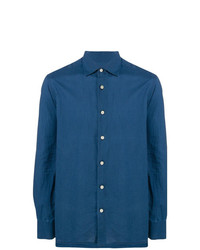 Kiton Long Sleeve Fitted Shirt