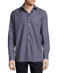 Eton Micro Dot Sport Shirt Navy