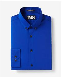 Express Modern Fit Easy Care Button Collar 1mx Shirt