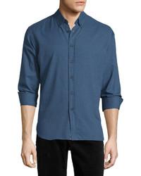 Billy Reid Murphy Long Sleeve Sport Shirt Navy