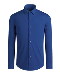 Bugatchi Ooohcotton Tech Solid Knit Button Up Shirt