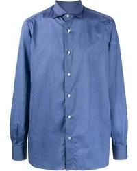 Isaia Plain Button Shirt