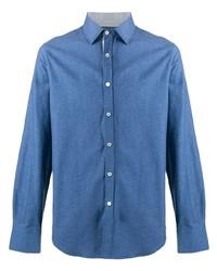 Canali Plain Button Shirt