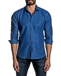 Jared Lang Regular Fit Diamond Button Up Shirt