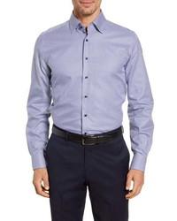 Emanuel Berg Regular Fit Houndstooth Button Up Shirt