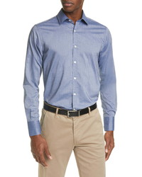 Canali Regular Fit Solid Button Up Shirt