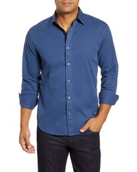 Bugatchi Shaped Fit Solid Button Up Shirt