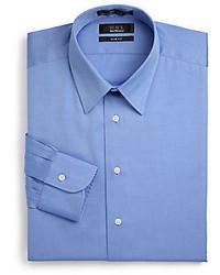 Saks Fifth Avenue BLACK Slim Fit Pinpoint Oxford Cotton Dress Shirt