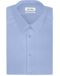 Calvin Klein Steel Slim Fit Non Iron Textured Solid Dress Shirt
