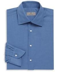 Canali Textured Cotton Long Sleeve Shirt