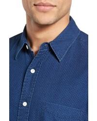 Faherty Ventura Trim Fit Indigo Dot Sport Shirt