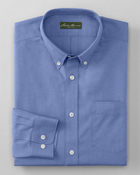 Eddie Bauer Wrinkle Free Classic Fit Pinpoint Oxford Shirt Solid
