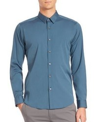 Theory Zack Ostend Solid Woven Sportshirt