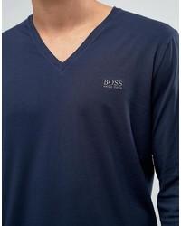 2c6d278f0 Hugo Boss Boss By V Neck Long Sleeve Top In Regular Fit, $59 | Asos ...