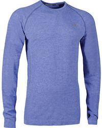 Skechers Long Sleeve Heathered Layer Tee Shirt Black Long Sleeve Shirts