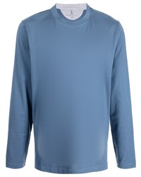 Brunello Cucinelli Long Sleeved Cotton T Shirt