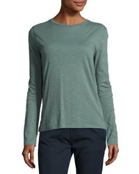 Slub cotton long sleeve tee sea glass medium 4106553