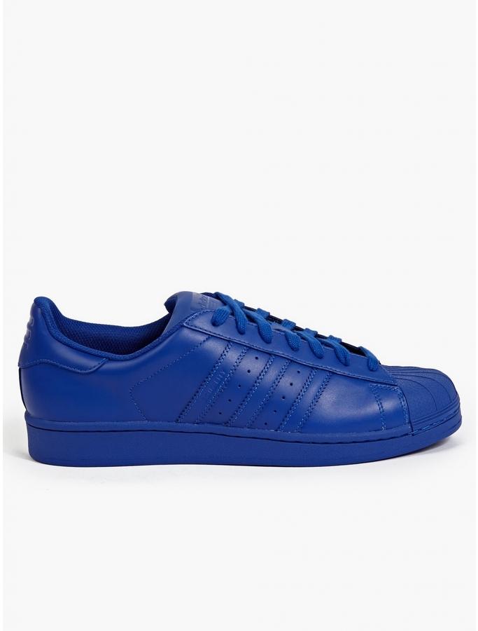 pretty nice 7f65e da06e $101, adidas Originals Bold Blue Supercolor Pack Superstar Sneakers