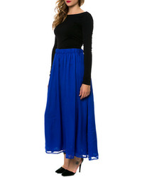 Maison Scotch Last Resort The Maxi Skirt In Royal Blue | Where to ...
