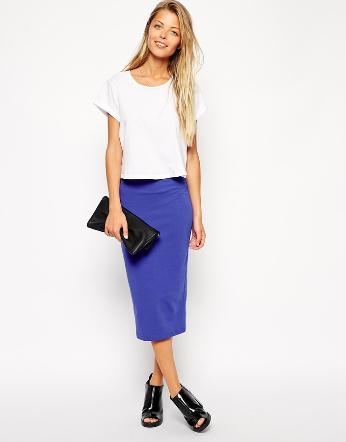 Asos Midi Pencil Skirt In Jersey | Where to buy & how to wear