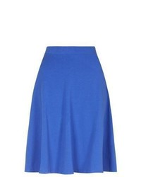 New Look Blue Midi Skater Skirt