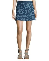 Rag & Bone Marina Jean Mini Skirt Indigo