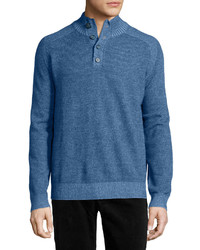 Neiman Marcus Plaited Mock Pullover Sweater Yonder