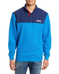 Vineyard Vines Shep Colorblock Quilted Pullover