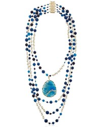 Amuleto blue quartz agate necklace medium 3744586