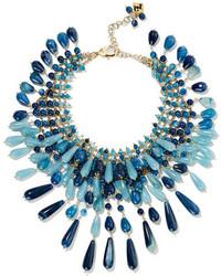 Rosantica Antica Gold Tone Multi Stone Necklace Blue