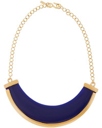Kenneth Jay Lane Gold Tone Resin Necklace