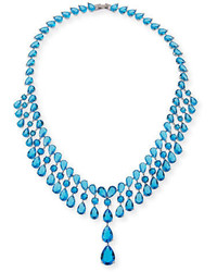 Monarch raindrop bib necklace blue medium 4472578