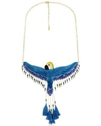 Nach flying blue parrot necklace medium 958745