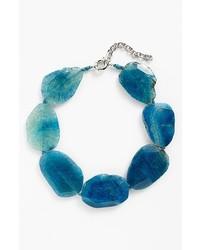Panacea Agate Necklace Blue