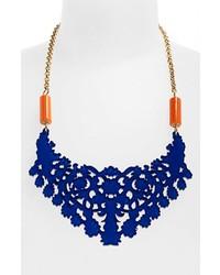 ZENZii Filigree Bib Necklace Blue