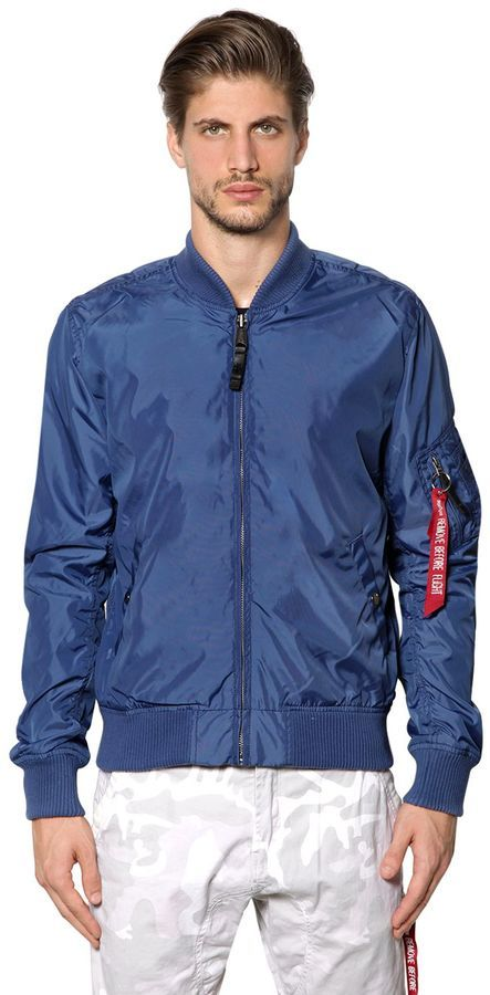 100% genuine finest fabrics best choice $125, Alpha Industries Ma 1 Tt Slim Fit Nylon Bomber Jacket