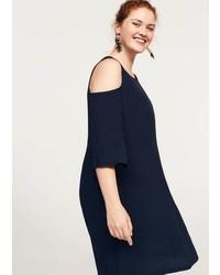 Violeta BY MANGO Flowy Off Shoulder Dress
