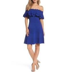 Off the shoulder fit flare dress medium 4952747