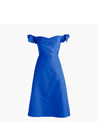 Off the shoulder strapless dress with ties in faille medium 3674161