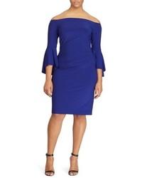 Plus size bell sleeve off the shoulder dress medium 4423306