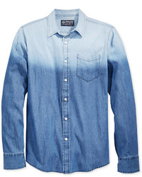 Blue Ombre Denim Shirt