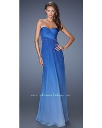 Ombre ruched sweetheart gown medium 1253170