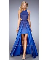 Taffeta ombre halter prom dress medium 1253171