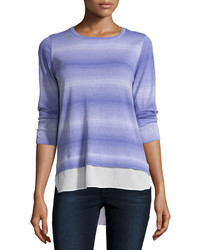 Ombre tee with georgette hem iris medium 1253178