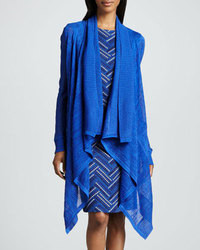 Blue Open Cardigan