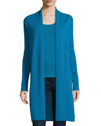 Cashmere collection long cashmere duster cardigan medium 3749974
