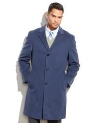 Calvin Klein Coat Solid Plaza Cashmere Blend Overcoat