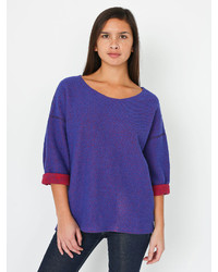 American apparel reversible easy sweater medium 216577