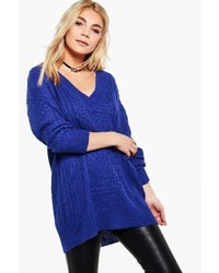 Molly deep v oversized jumper medium 3640510